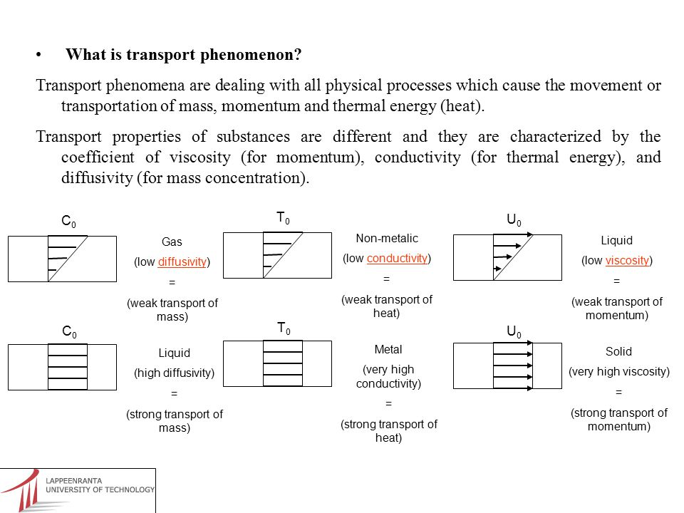 What is transport phenomenon.