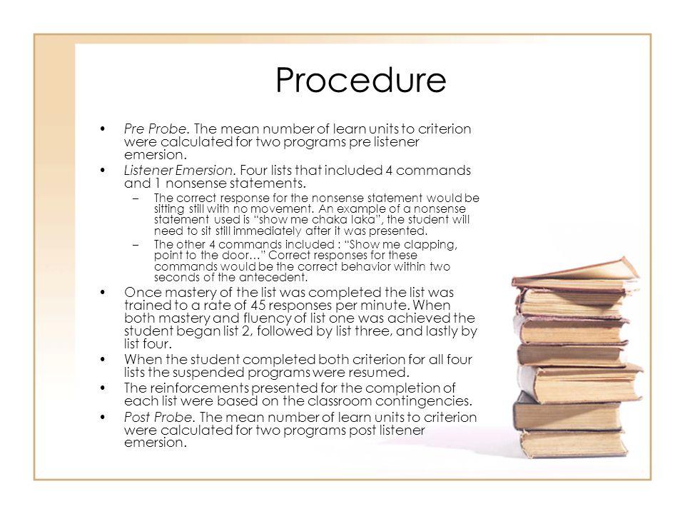 Procedure Pre Probe.