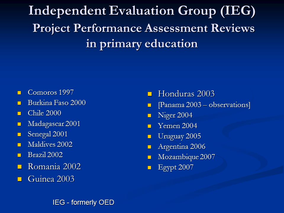 Broad findings of PPARs: Enrollments increased everywhere but….