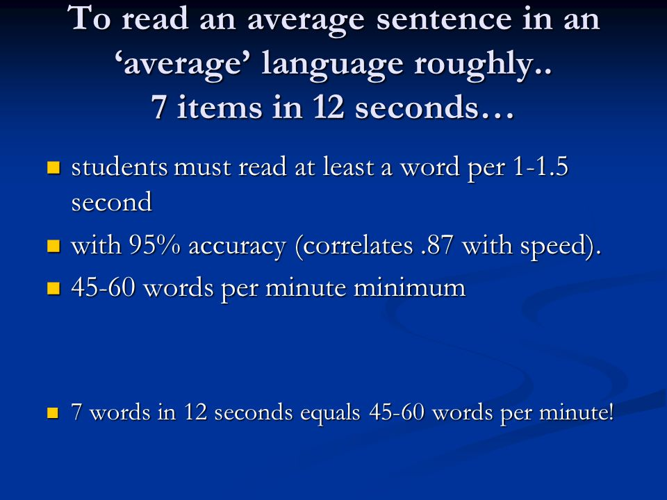 Alternative measurements Wordchains Piloting needed for this paper-and-pencil predictor of reading fluency