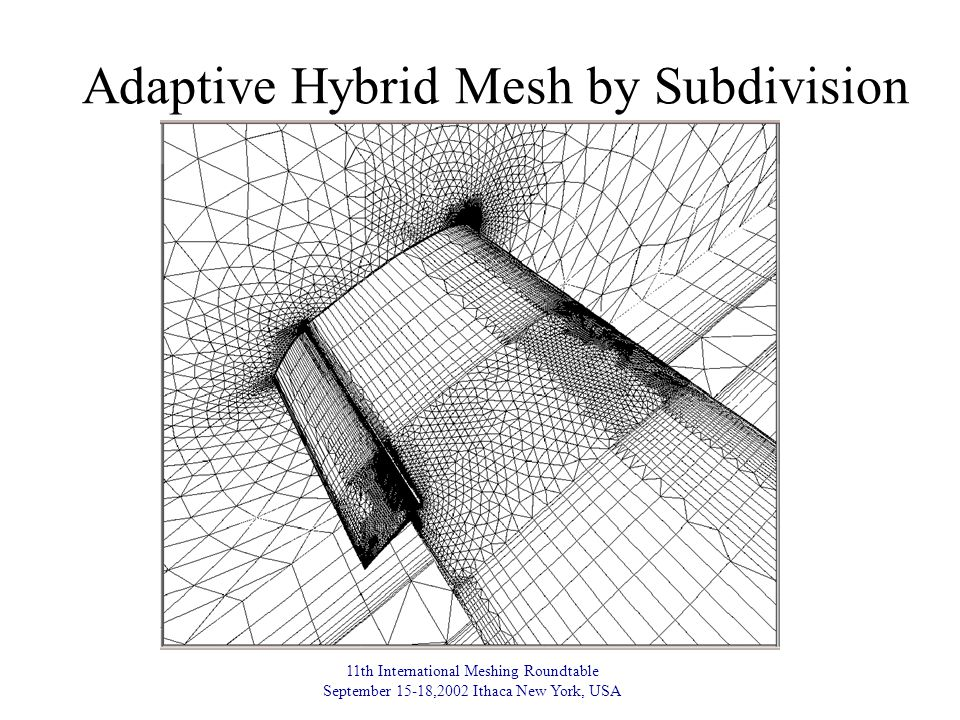 11th International Meshing Roundtable September 15-18,2002 Ithaca New York, USA Adaptive Hybrid Mesh by Subdivision