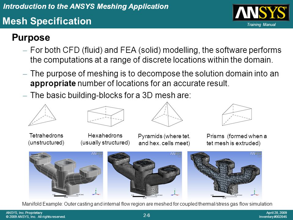 Introduction to the ANSYS Meshing Application 2-7 ANSYS, Inc.