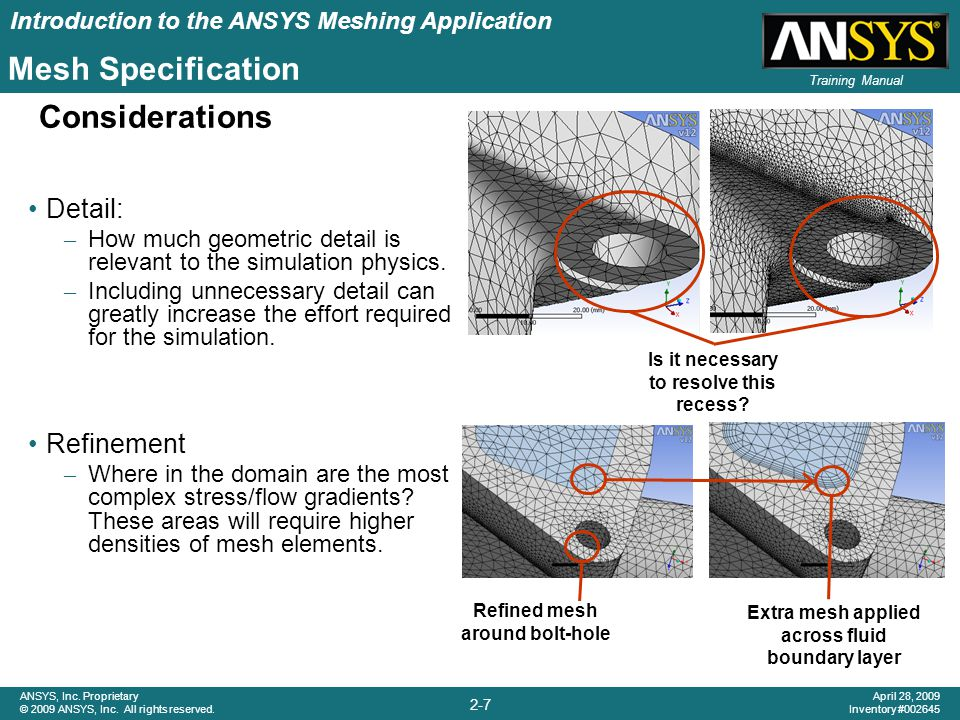 Introduction to the ANSYS Meshing Application 2-28 ANSYS, Inc.