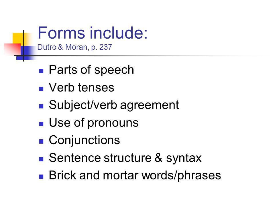 Forms include: Dutro & Moran, p.