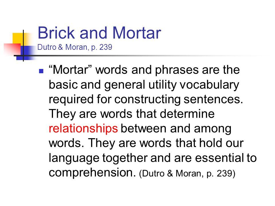 Brick and Mortar Dutro & Moran, p.