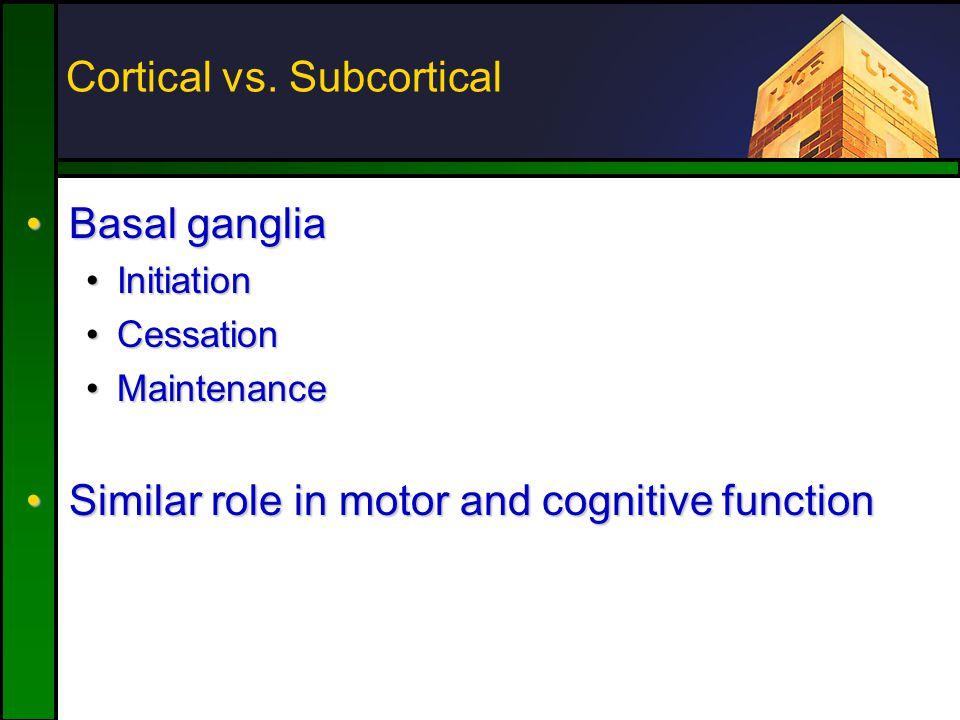 Cortical vs.