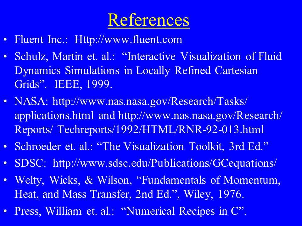 References Fluent Inc.: Http://www.fluent.com Schulz, Martin et.