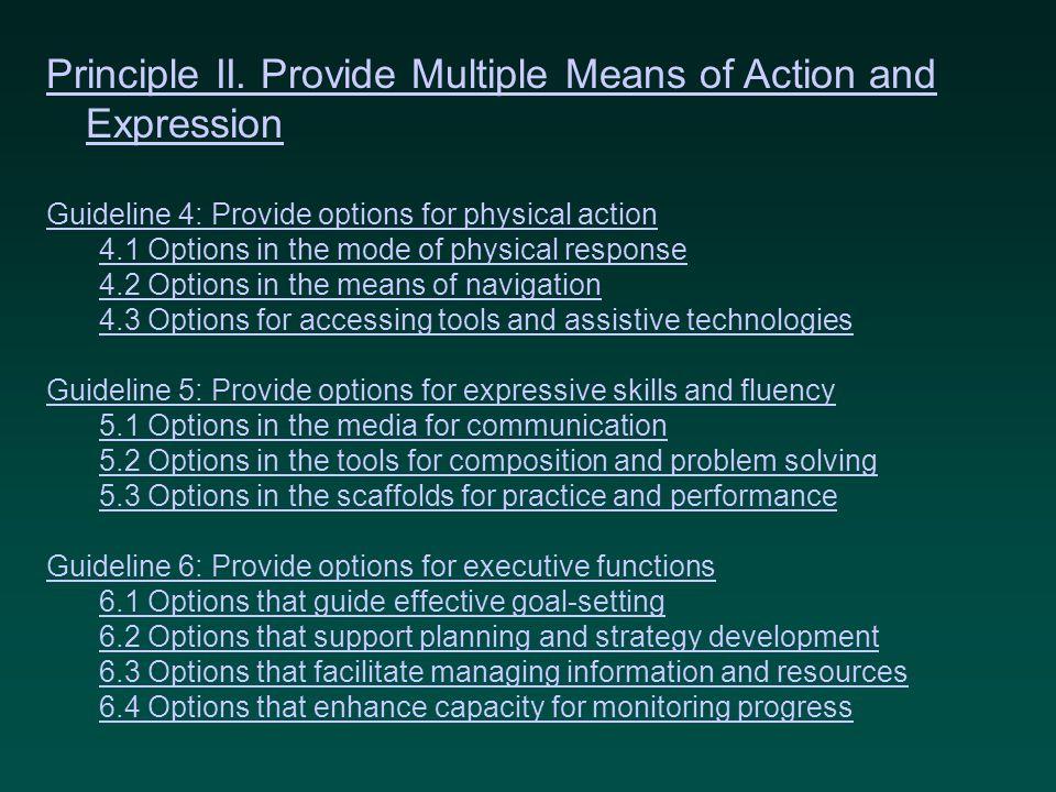 Principle II.