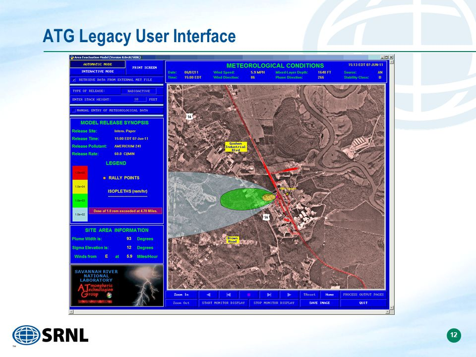 12 ATG Legacy User Interface