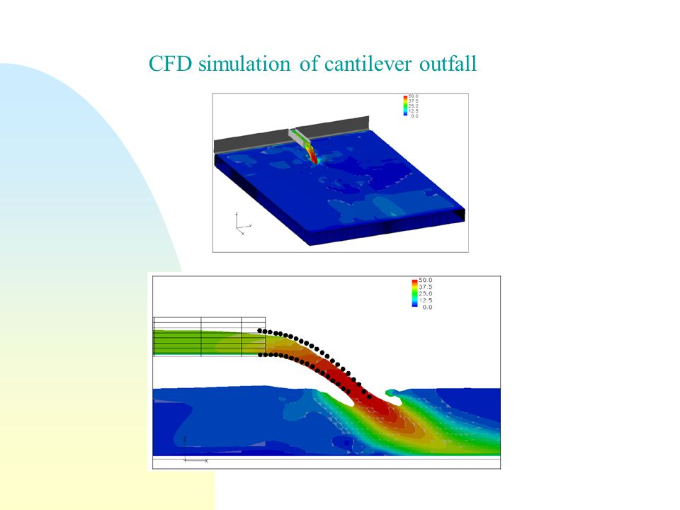 CFD simulation of cantilever outfall
