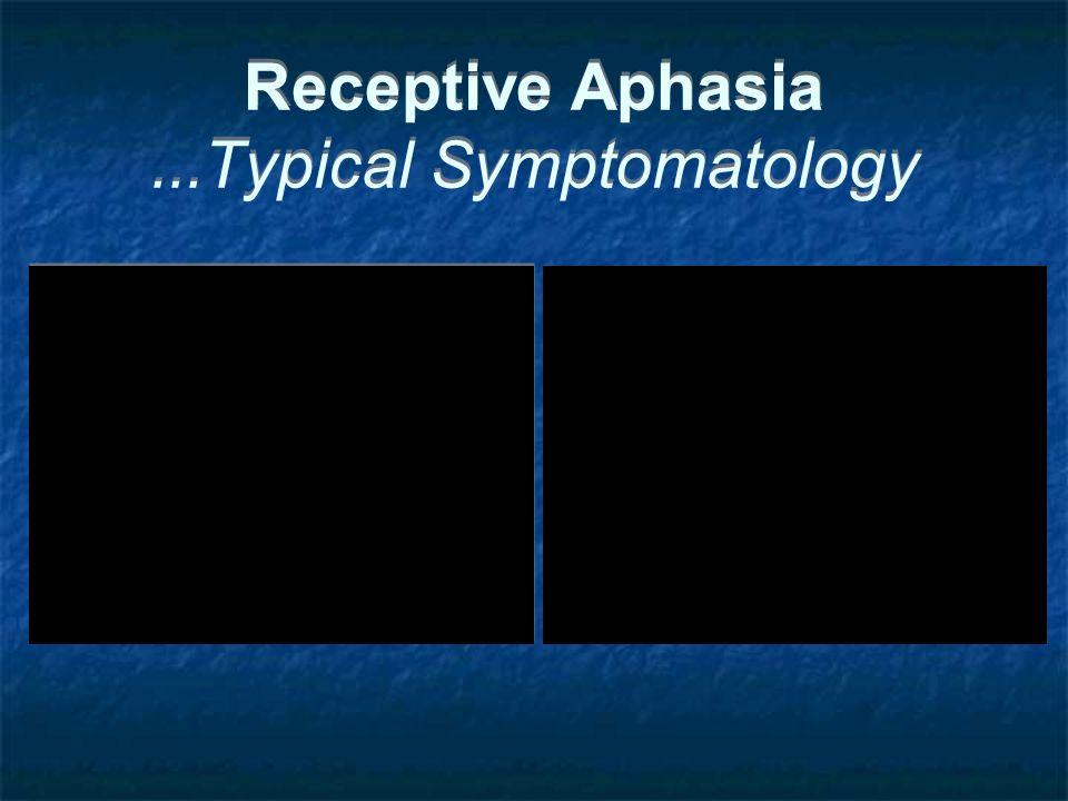 Receptive Aphasia...Typical Symptomatology