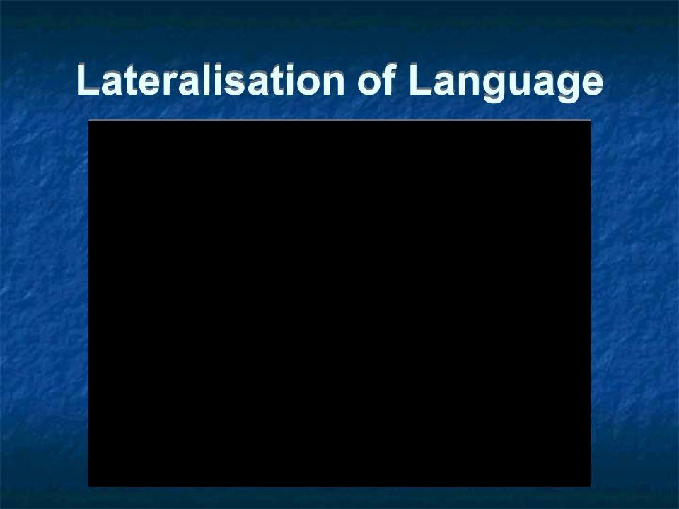 Lateralisation of Language