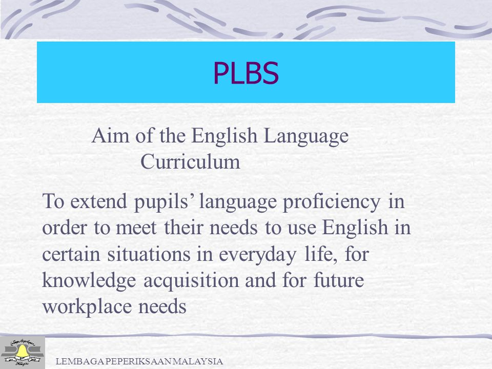 LEMBAGA PEPERIKSAAN MALAYSIA PLBS PRESENTATION CONTENTS Activity Package Models Samples of Model 1 - Model 5 Conclusion
