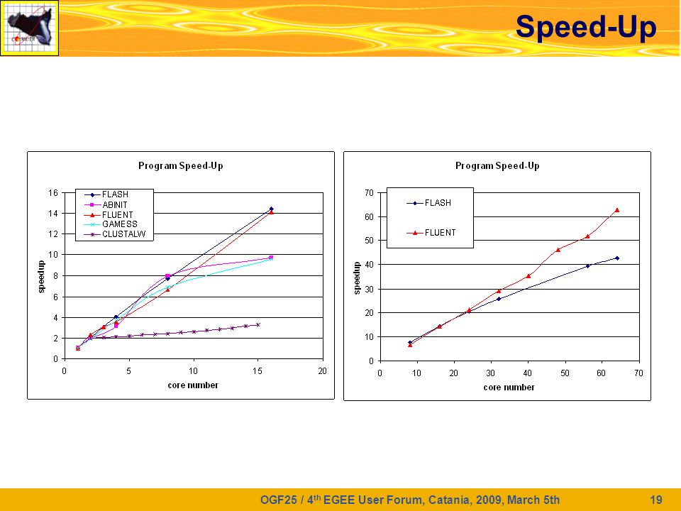 OGF25 / 4 th EGEE User Forum, Catania, 2009, March 5th 19 Speed-Up