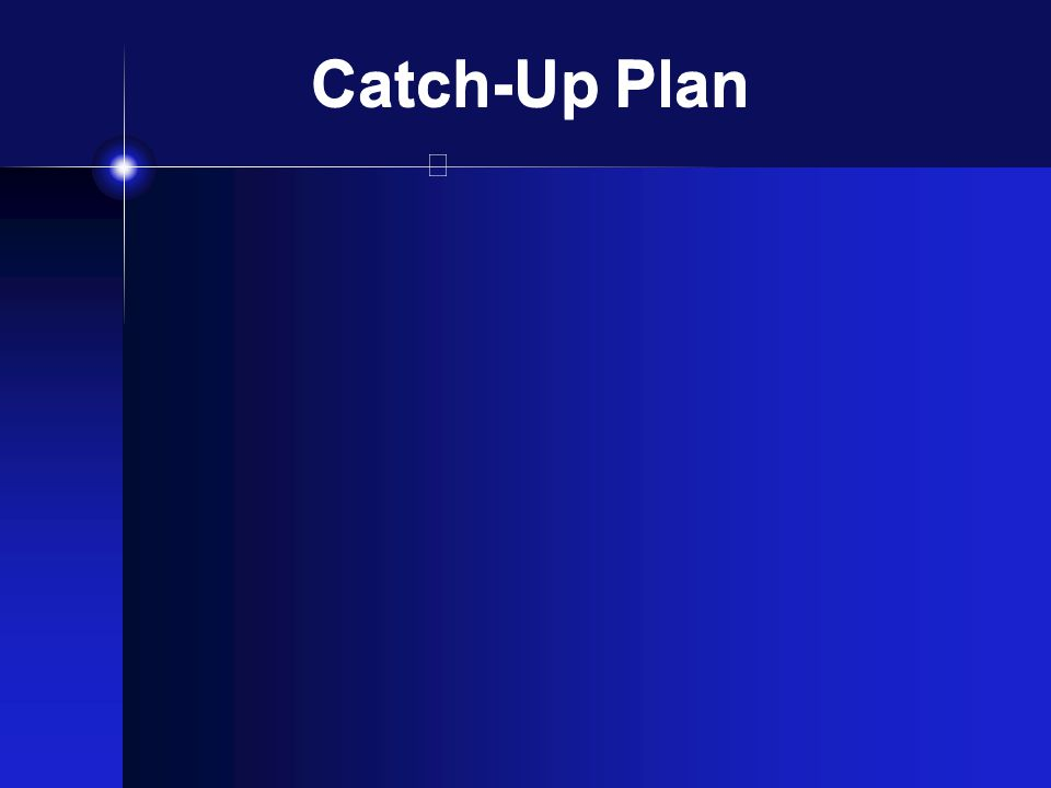 Catch-Up Plan