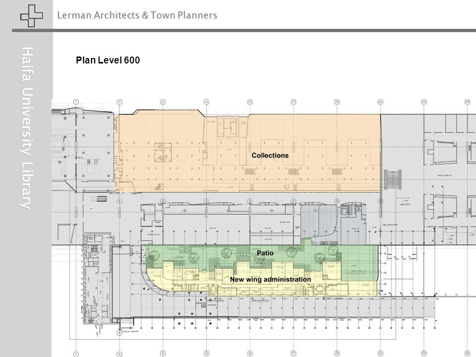 Lerman Architects & Town Planners Haifa University Library Plan Level 600