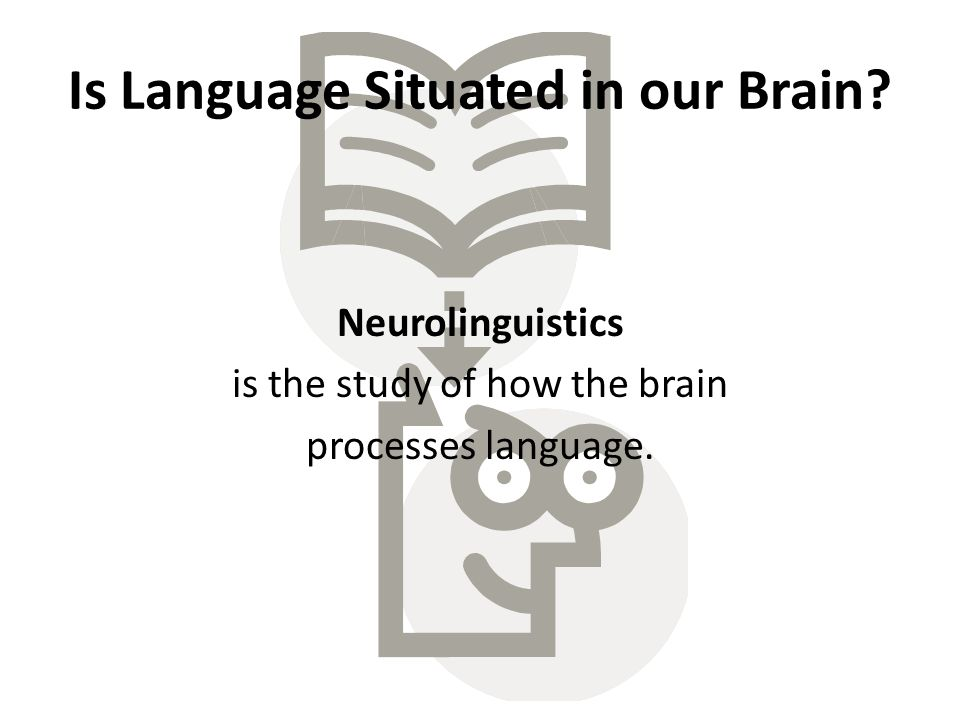 Is Language Situated in our Brain.