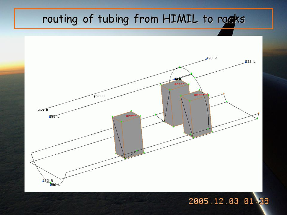 routing of tubing from HIMIL to racks