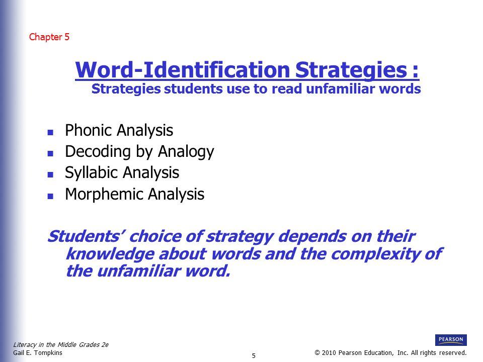 Literacy in the Middle Grades 2e Gail E.Tompkins 6 © 2010 Pearson Education, Inc.