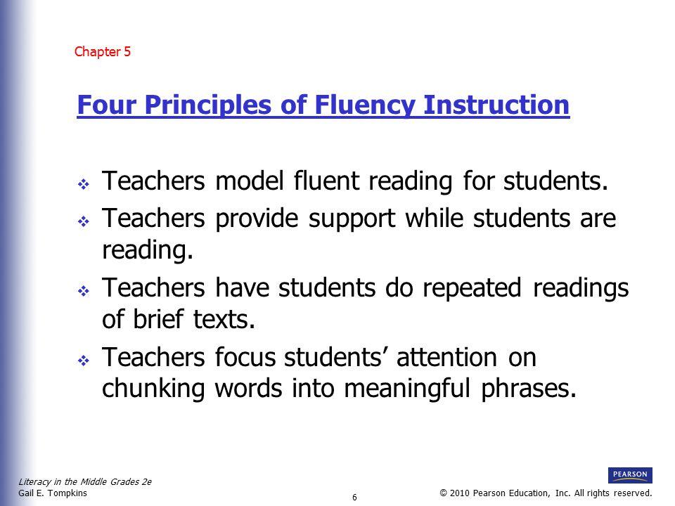Literacy in the Middle Grades 2e Gail E.Tompkins 7 © 2010 Pearson Education, Inc.