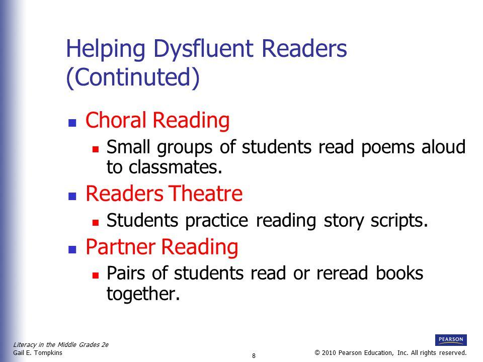 Literacy in the Middle Grades 2e Gail E.Tompkins 9 © 2010 Pearson Education, Inc.