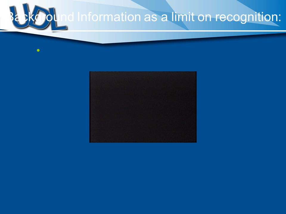 Background Information as a limit on recognition: