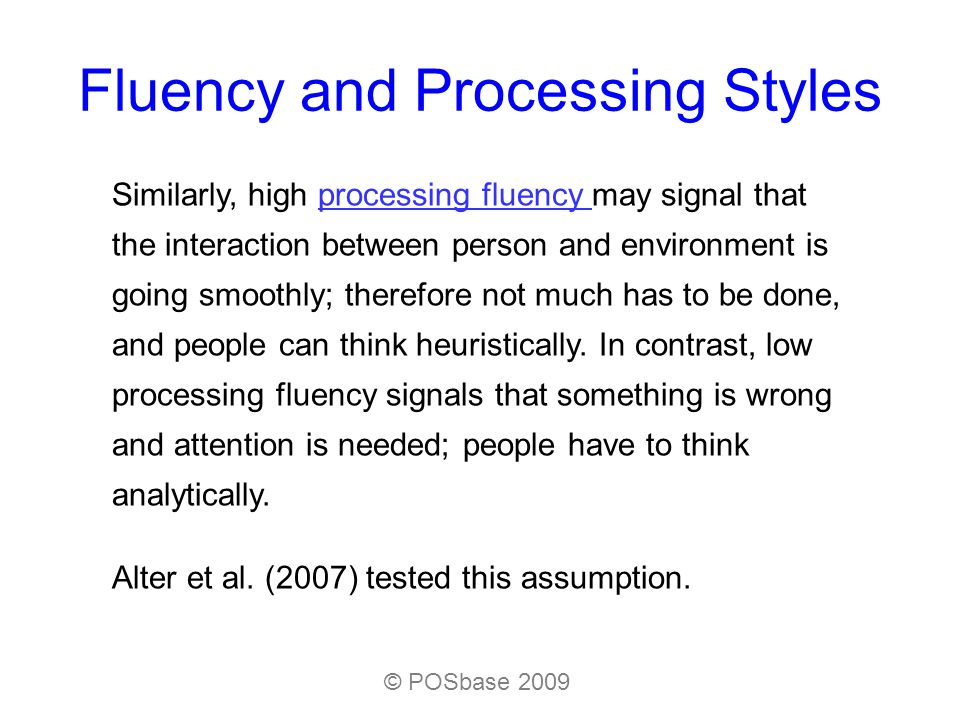 Fluency and Processing Styles In one of their experiments, they gave participants the Cognitive Reflection Test (CRT).