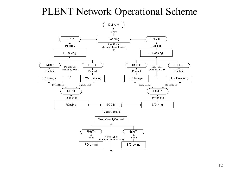 12 PLENT Network Operational Scheme