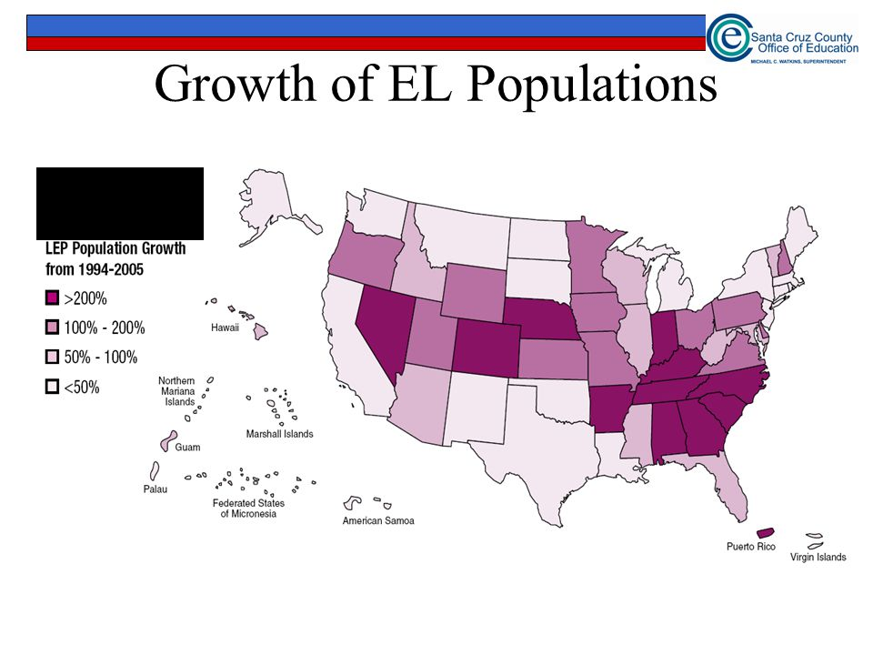 Growth of EL Populations (U.S. Department of Education, NCELA, 2007)