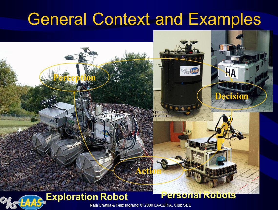 Raja Chatila & Félix Ingrand, © 2000 LAAS/RIA, Club SEE General Context and Examples Exploration Robot Personal Robots Perception Action Decision