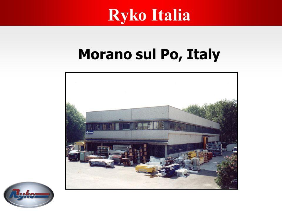 Regional Office - Morano Po, Italy  Marketing Territory Italy, Greece, Switzerland, Romania, Bulgaria, Balkans, Turkey  Technical Support 6 Staff 