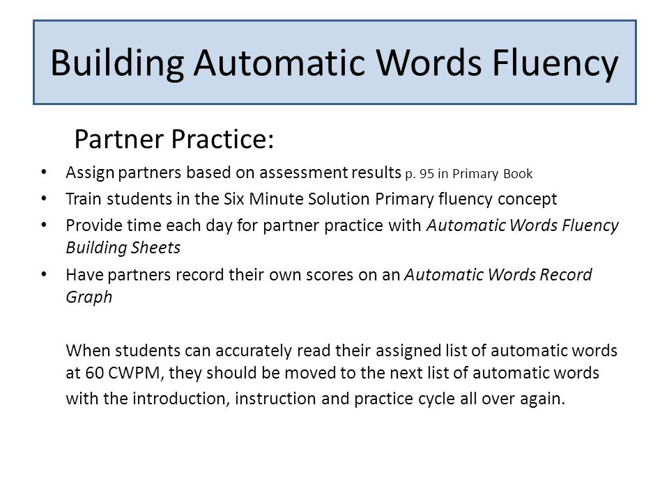 Partner Practice: Assign partners based on assessment results p.