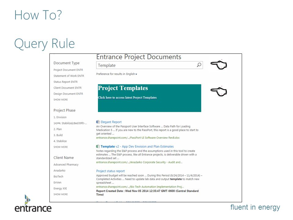 fluent in energy How To Query Rule