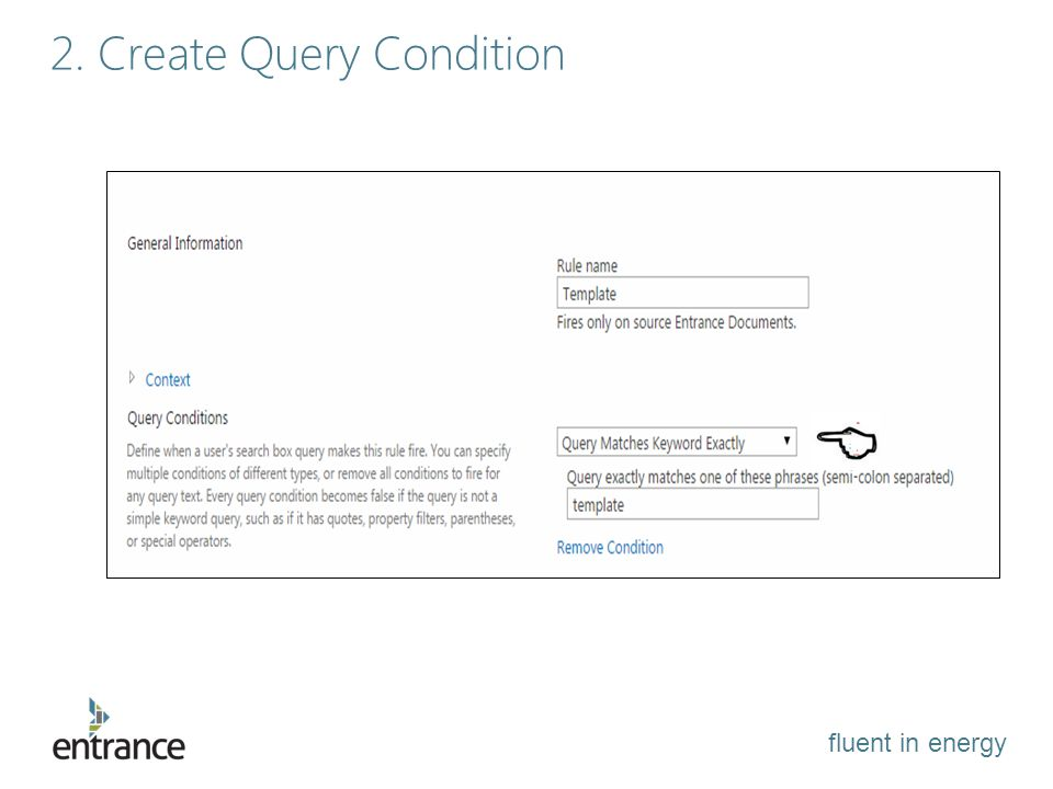 fluent in energy 2. Create Query Condition