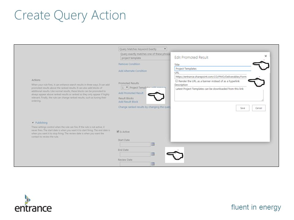 fluent in energy Create Query Action