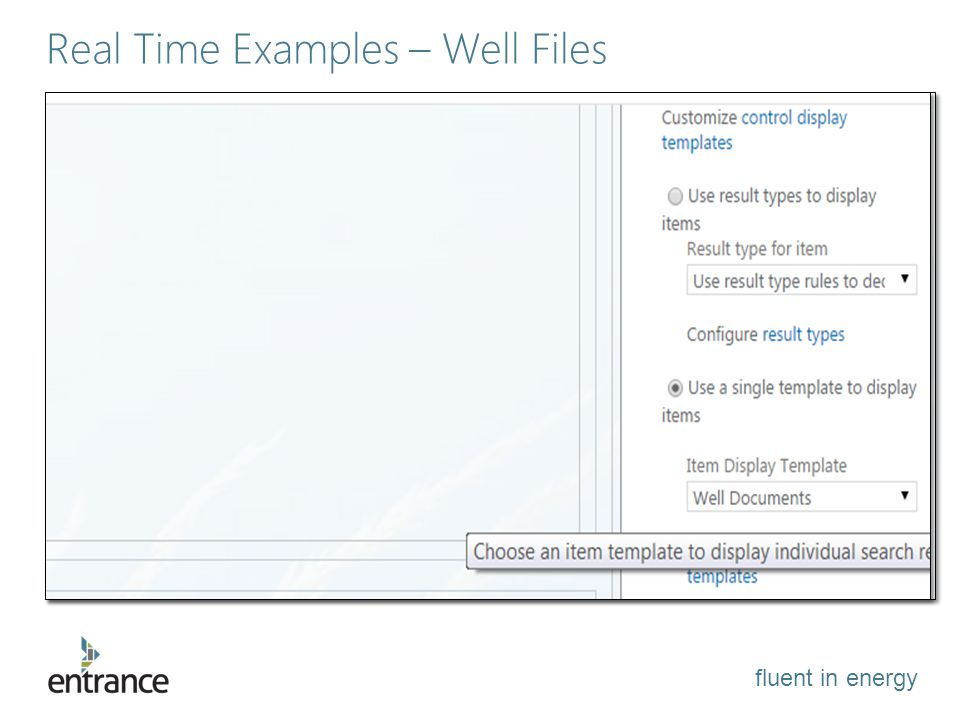 fluent in energy Real Time Examples – Well Files