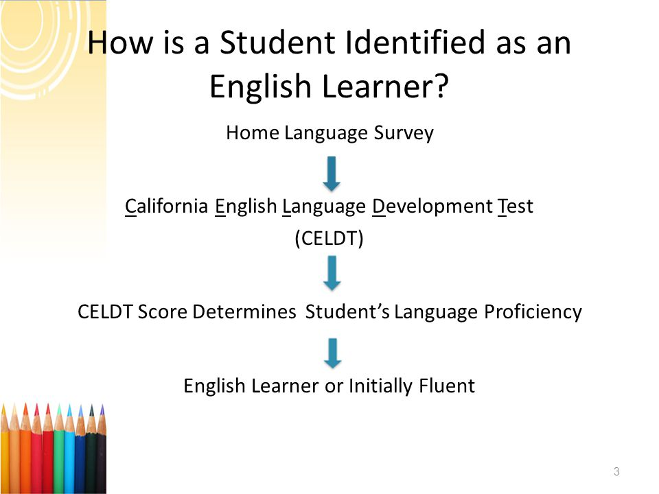 How is a Student Identified as an English Learner.