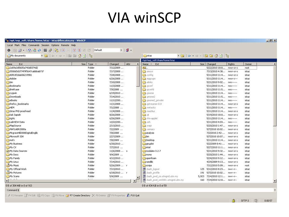 VIA winSCP