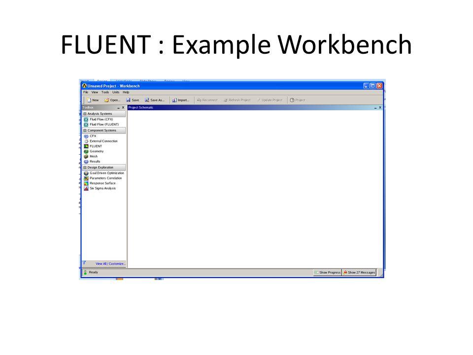 FLUENT : Example Workbench