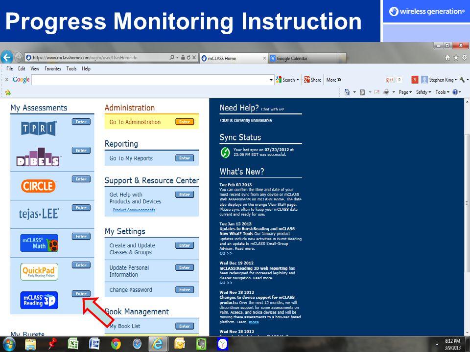 © Wireless Generation, Inc. 2007 Progress Monitoring Instruction