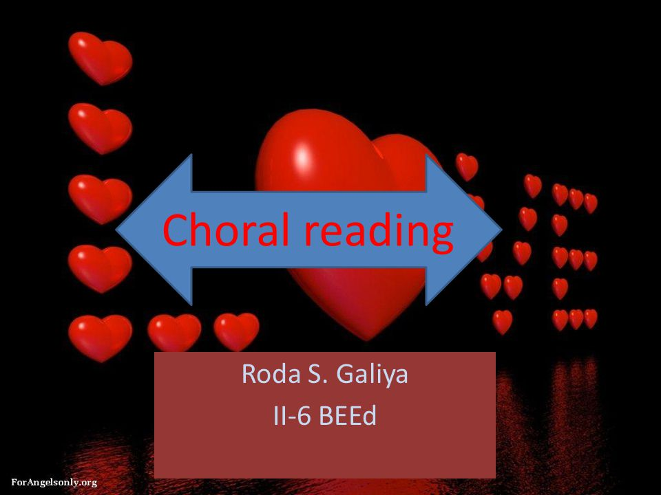 Roda S. Galiya II-6 BEEd Choral reading