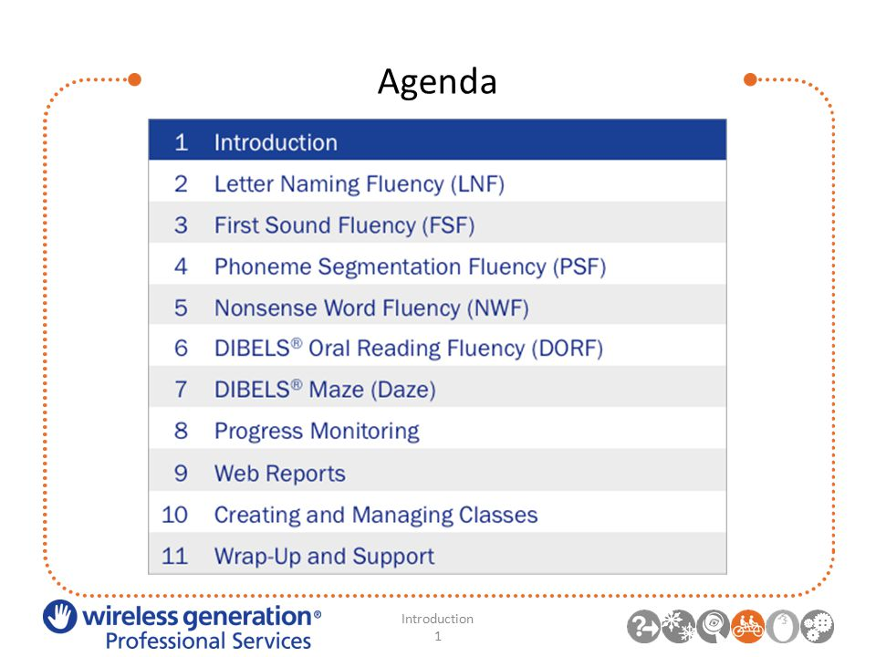 Agenda Introduction 1