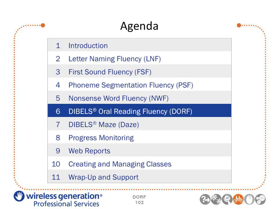 Agenda DORF 102