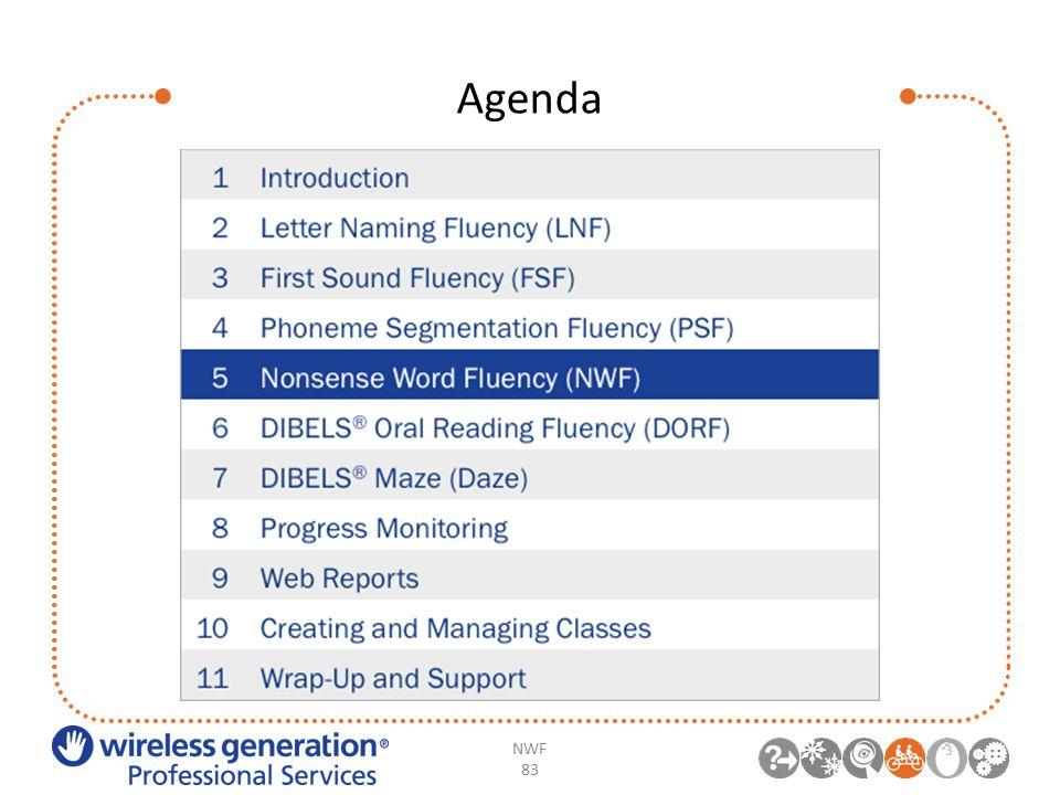 Agenda NWF 83