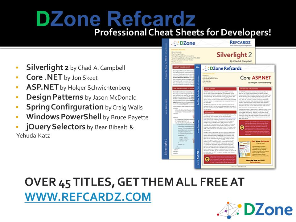 Professional Cheat Sheets for Developers!