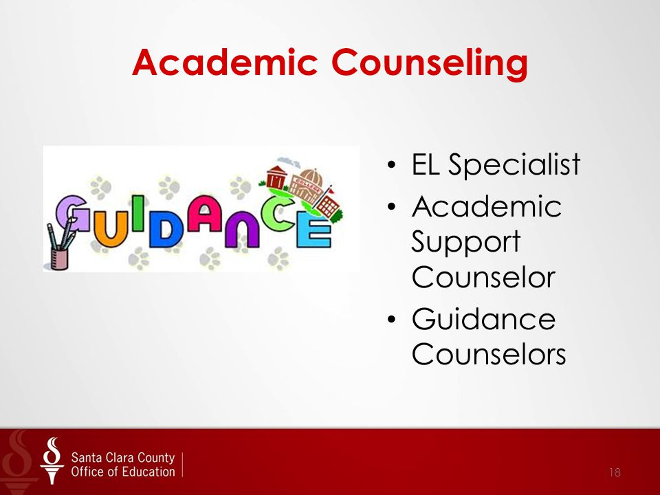 Academic Counseling EL Specialist Academic Support Counselor Guidance Counselors 18