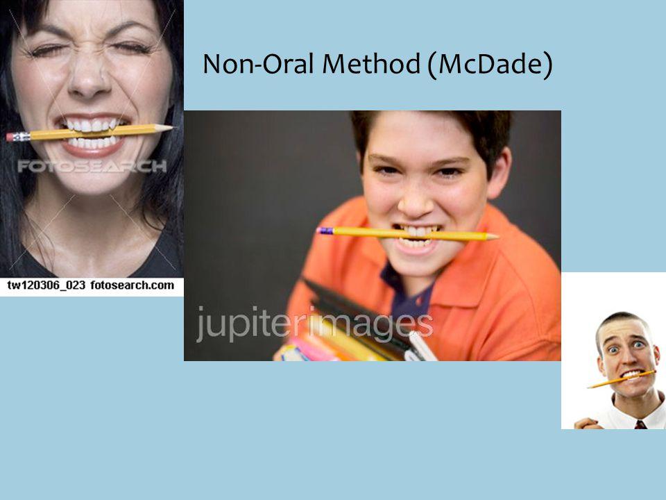 Non-Oral Method (McDade)