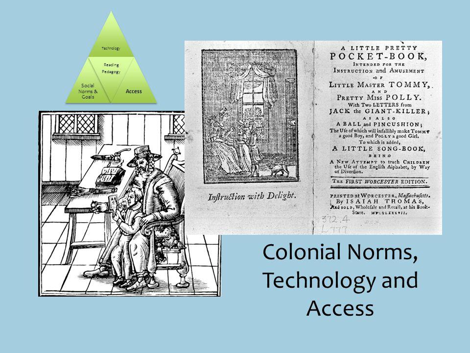 Technology Social Norms & Goals Reading Pedagogy Access Colonial Norms, Technology and Access