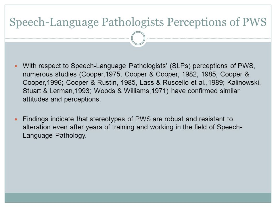 Discussion - Stuttering SLPs exhibit stereotypes of PWS prior to therapy that trend to normalization following therapy that assimilate to a hypothetical fluent speaker.