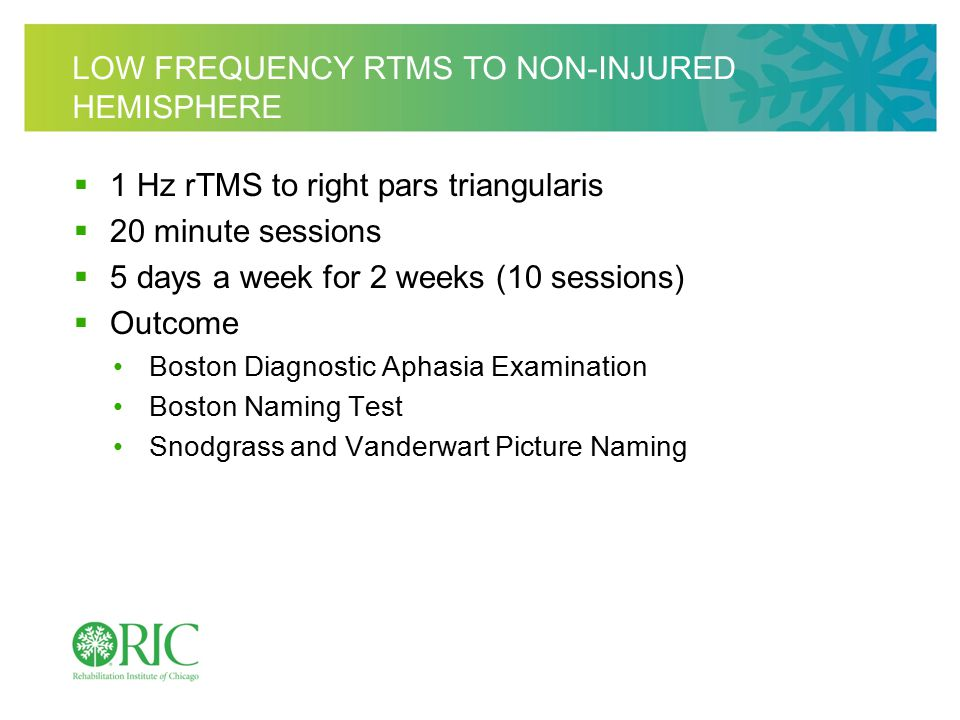 HIGH FREQUENCY RTMS FOR APHASIA